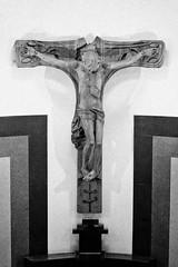 art, symbol, sculpture, monochrome photography, crucifix, cross, monochrome, black-and-white, black,