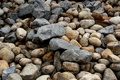boulder(0.0), stone wall(0.0), wall(0.0), soil(0.0), wood(0.0), rubble(1.0), bedrock(1.0), pebble(1.0), stream bed(1.0), rock(1.0), gravel(1.0),