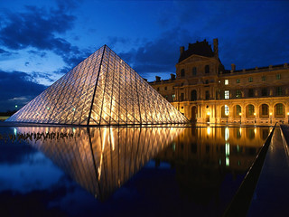 Pyramid at Louvre Mu