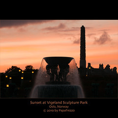 Sunset at Vigeland Sculpture Park