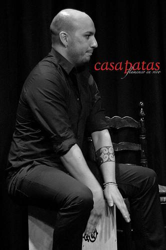 A la percusión, Antón Suárez. Foto: Martín Guerrero