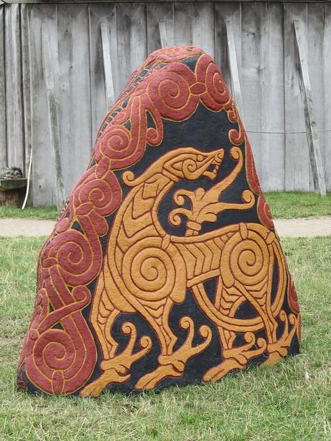 Viking dragon stone at the