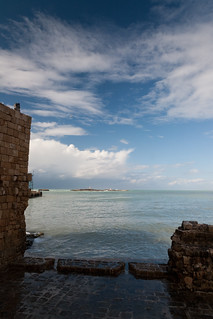 ocean at Sidon, Lebanon