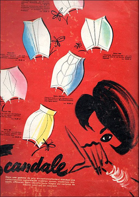 the 1960s-ad for girdles