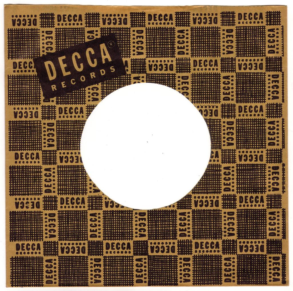 1950s decca records 45 rpm record sleeve