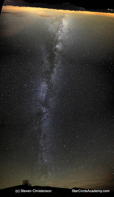 A 180 degree vertorama of the Milky Way from horizon to horizon