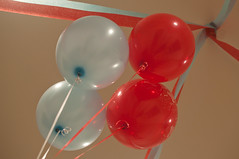red, balloon, pink,