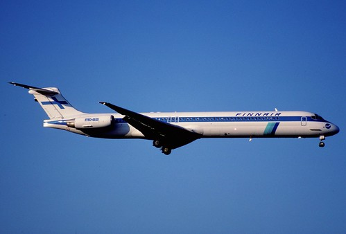 21br - Finnair MD-82; OH-LMY@ZRH;22.04.1998