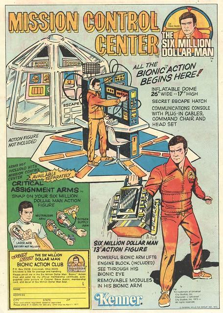 Six Million Dollar Man Mission Control Center playset (1975)