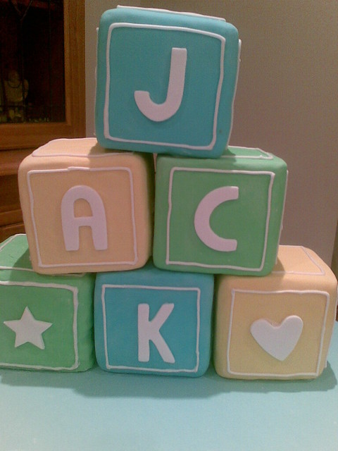 Building Blocks Christening Cake | Flickr - Photo Sharing!