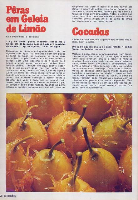 Tele Culinária e Doçaria, Especial Outono, Setembro 1980 - 26