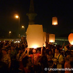 Rama VIII Bridge Full of Paper Lanterns - Loi Krathong Festival, Bangkok
