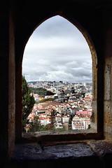 Lisbon through a window