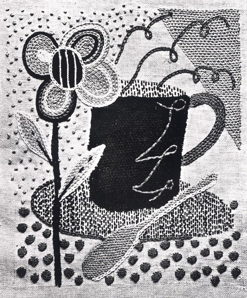Rebecca Crompton stitched panel 5