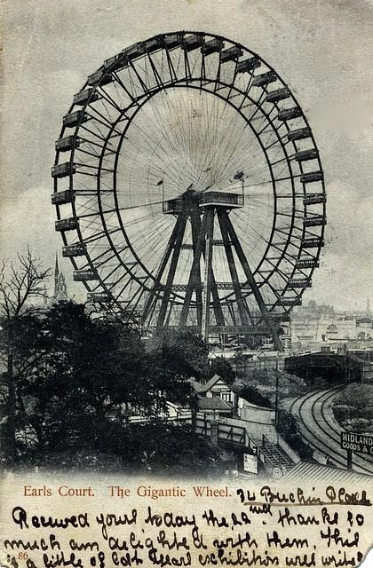 Earls Court Giant Wheel, Postcard, 22 January, 1904