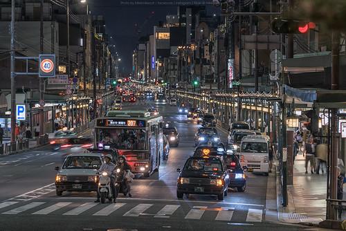 Shijo Dori, Kyoto, Japan