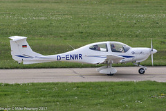 D-ENWR - 2001 build Diamond DA40D Star, lining up for departure on Runway 24 at Friedrichshafen during Aero 2017