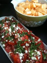 vegetable(0.0), bruschetta(0.0), produce(0.0), salad(1.0), vegetarian food(1.0), fruit(1.0), food(1.0), dish(1.0), cuisine(1.0), feta(1.0),