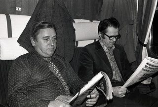 Dad's colleagues on the train