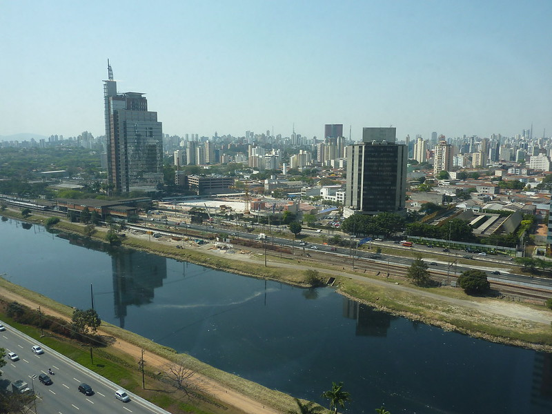 Sao Paulo Brazil: view from Johnson & Johnson Offices 16th Floor