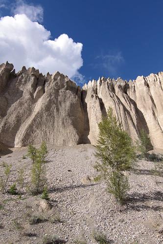 trees sky canada clouds sandstone rocks bc britishcolumbia hoodoos dutchcreek butnotnavajosandstone likebryceonlylesscolorful
