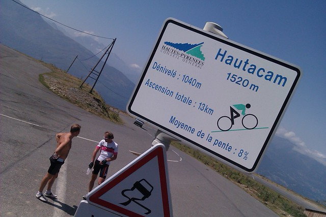 Photo: It's case-study Pyrenean climbing, a serpentine road with an ever changing gradient..