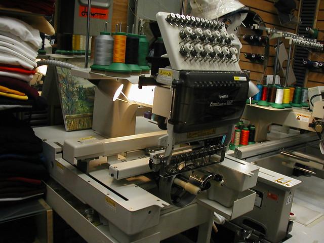 toyota embroidery machine repair