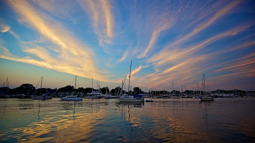 sunset night port marina evening sailing yacht annapolis pwpartlycloudy