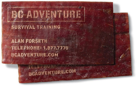 BC Adventure Meat Business Card