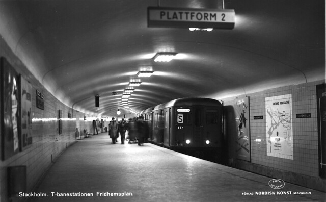 Stockholm. T-banestationen Fridhemsplan.