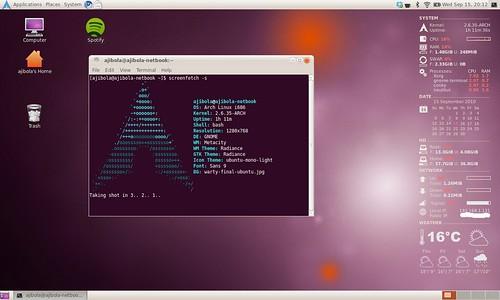 ArchLinux in Ubuntu Colors
