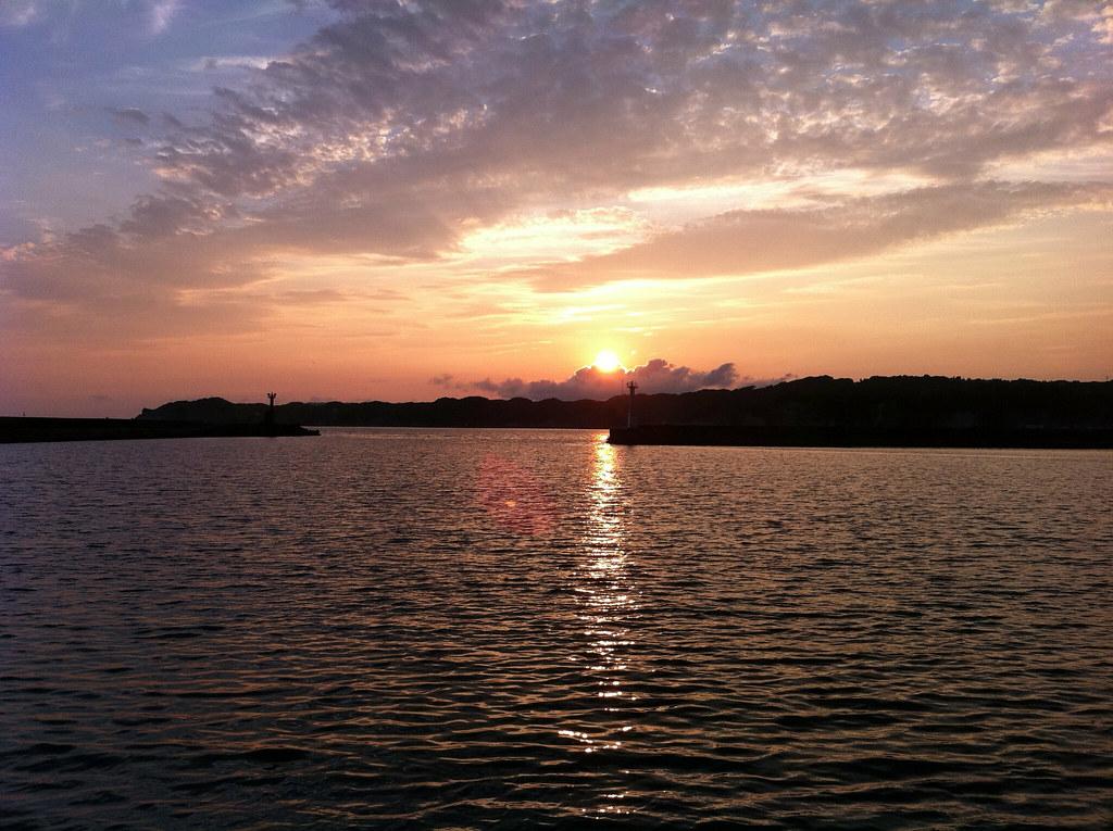 勝浦の夕陽
