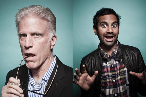 Ted Danson and Aziz Ansari | 2010