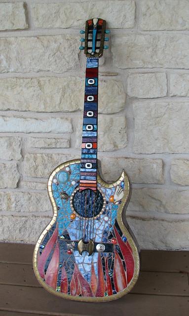 Conquistador mosaic guitar