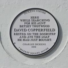 Photo of Charles Dickens white plaque