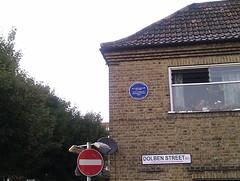 Photo of Mary Wollstonecraft blue plaque