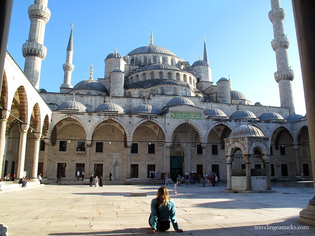 Reflecting at the Blue Mosque, Istanbul