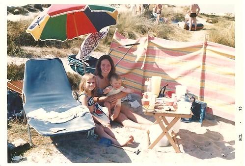 Cheryl, Louise and Matt, 1975.