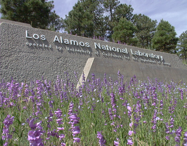 Main entrance to Los Alamos National Laboratory (LANL).