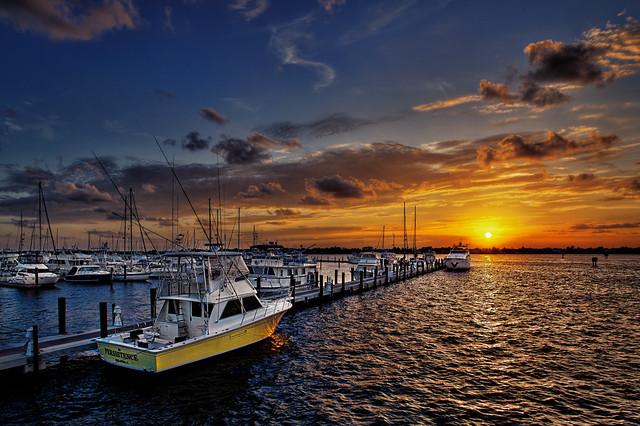 sunset over stuart marina florida flickr photo sharing