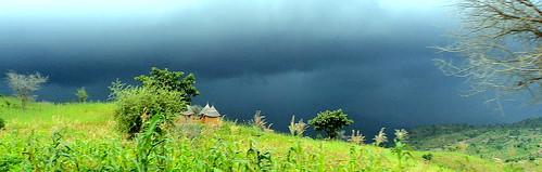 africa rain weather season landscape rainy cameroon cameroun mokolo