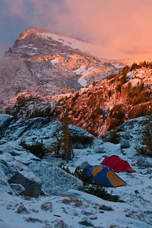 Our camp in the morning
