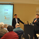 Tim Fischer and Keith Edwards Genesee Regional Chamber of Commerce at Flint Michigan by Rail Forum