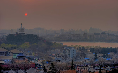 Smoggy Sunset - Beijing, China