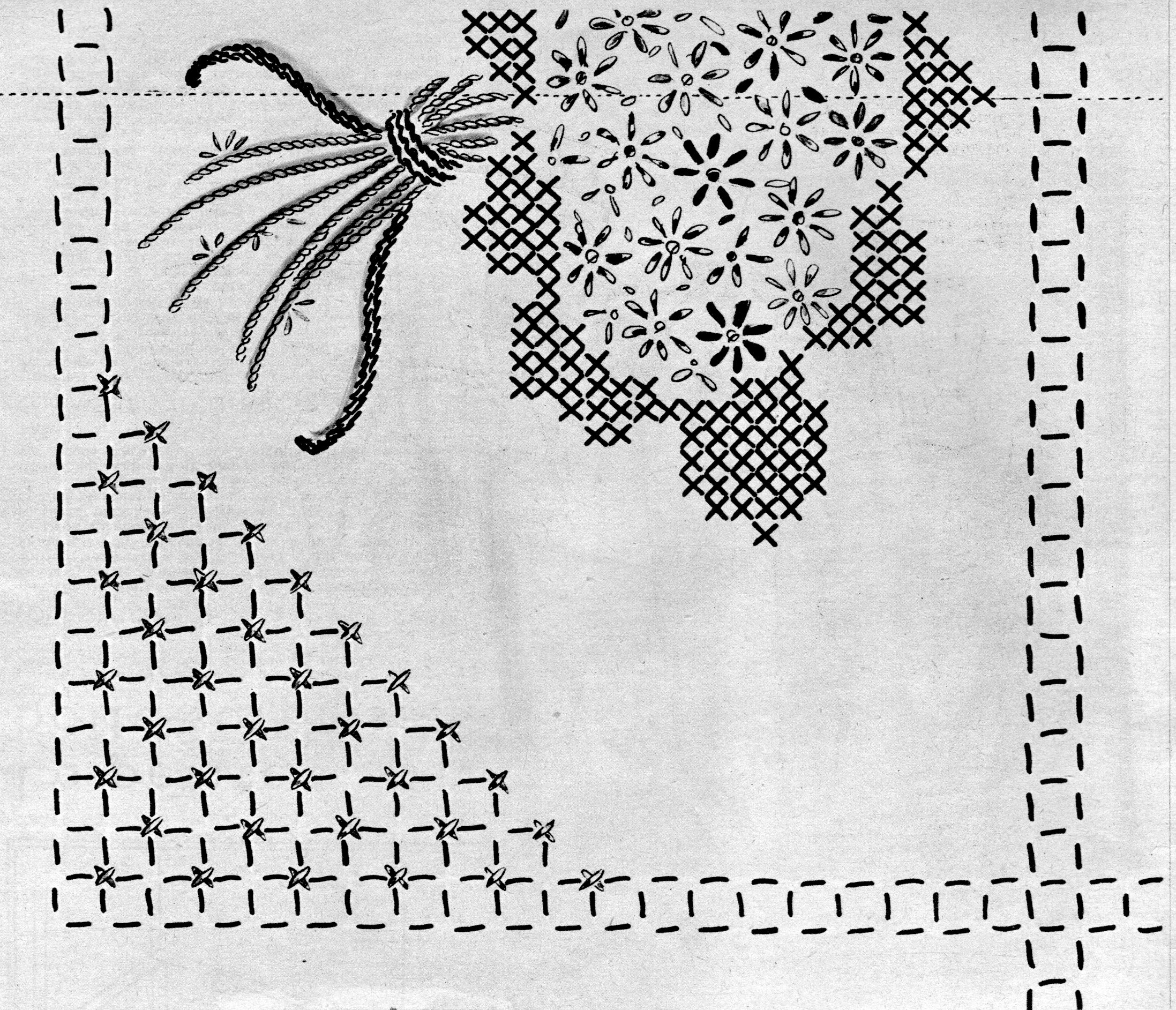 the 1950s-vintage embroidery motif