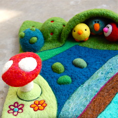 Needlefelted playscape