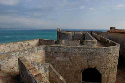 Fort Carré located at the entrance of Antibes
