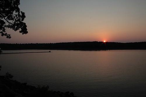 park sunset sky lake oklahoma water landscape sand state dusk springs keystone
