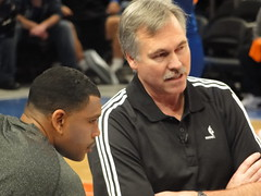Mike D'Antoni and Allan Houston