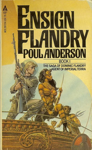 Poul Anderson - Ensign Flandry Book 1 - cover artist Michael Whelan